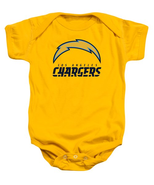 Los Angeles Chargers On An Abraded Steel Texture Baby Onesie