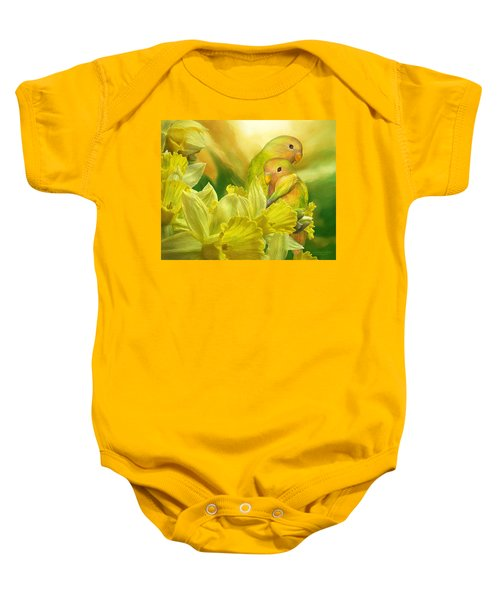 Love Among The Daffodils Baby Onesie