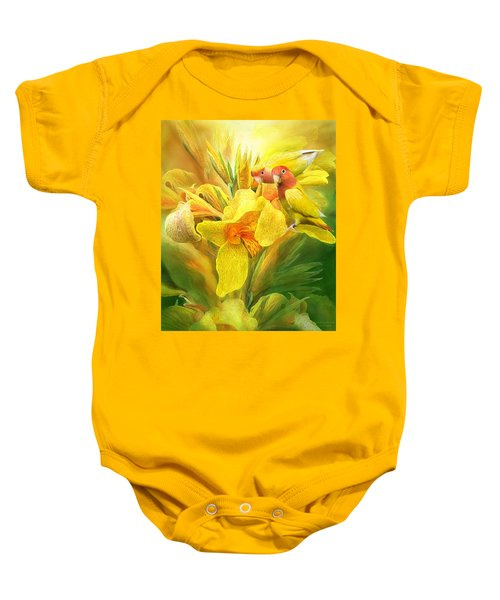 Love Among The Orchids Baby Onesie