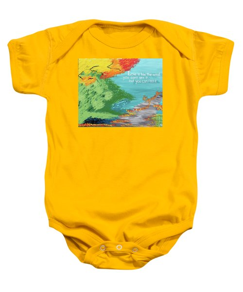 Love Like The Wind Baby Onesie by Cyrionna The Cyerial Artist