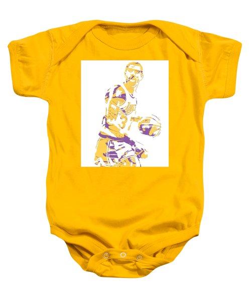 Magic Johnson Los Angeles Lakers Pixel Art 6 Baby Onesie