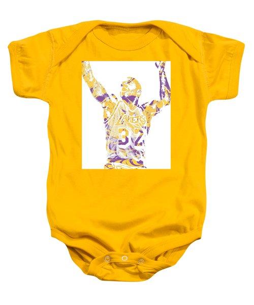 Magic Johnson Los Angeles Lakers Pixel Art 7 Baby Onesie