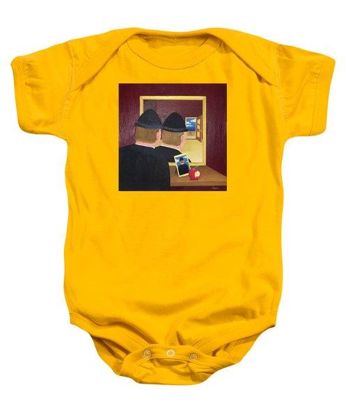 Man In The Mirror Baby Onesie