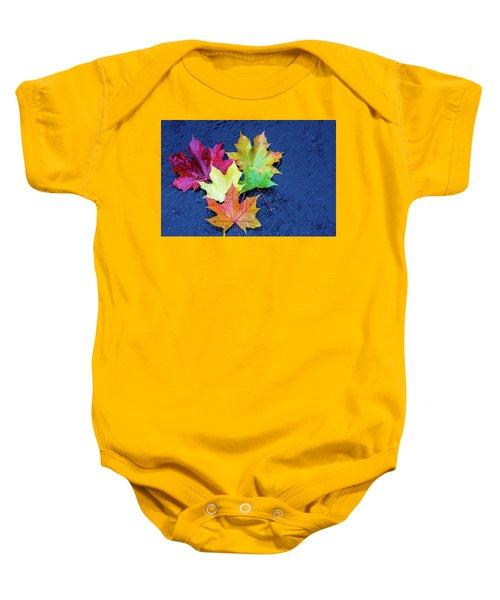 Maple Leaves Baby Onesie