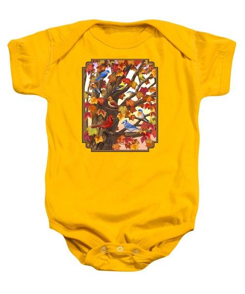 Maple Tree Marvel - Bird Painting Baby Onesie