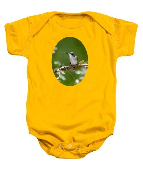 Meadow Hummingbird Baby Onesie by Christina Rollo
