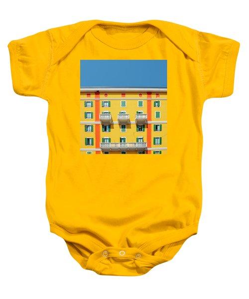 Mediterranean Colours On Building Facade Baby Onesie