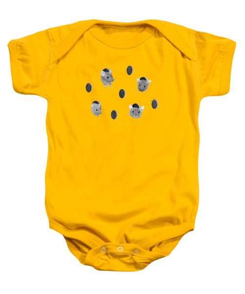 Mice In Swiss Cheese Baby Onesie by Rita Palmer