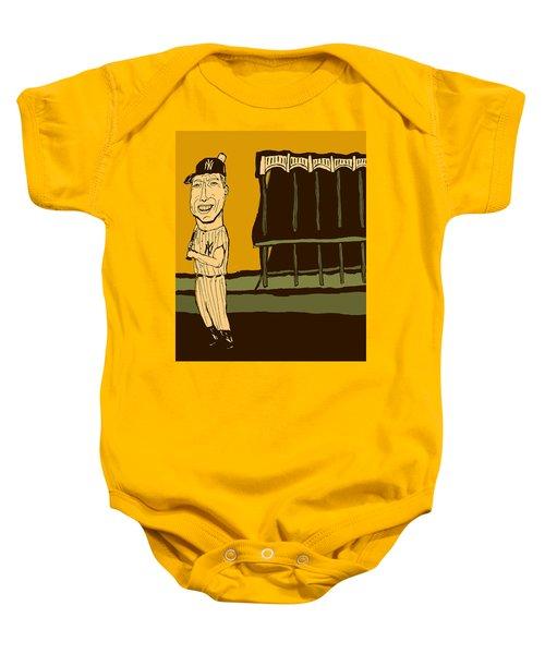 Mickey Mantle Yankee Stadium Baby Onesie by Jay Perkins