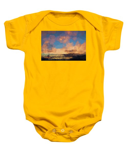 Moab Sunrise Abstract Painterly Baby Onesie