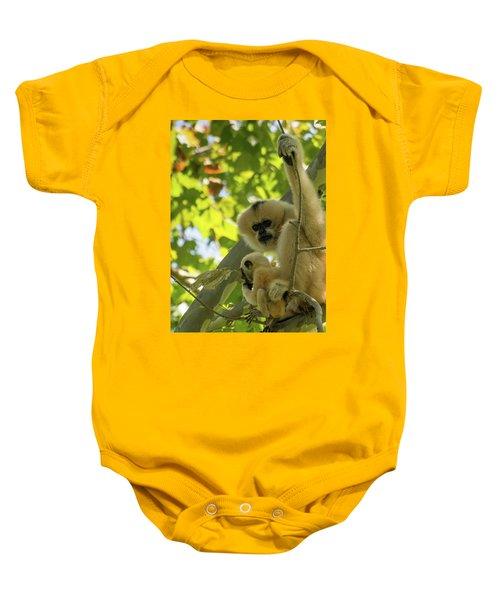 Mommy Gibbon Baby Onesie