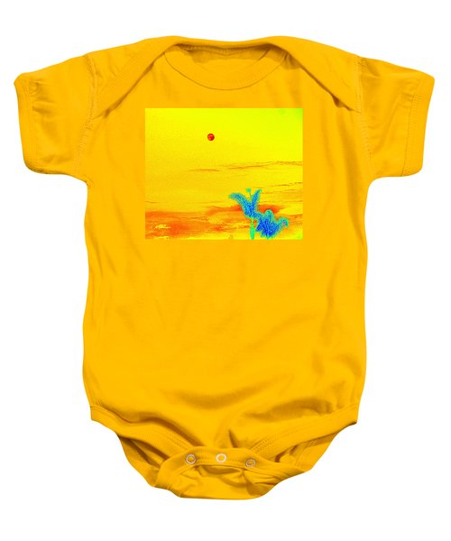 Moon And Two Palms Baby Onesie