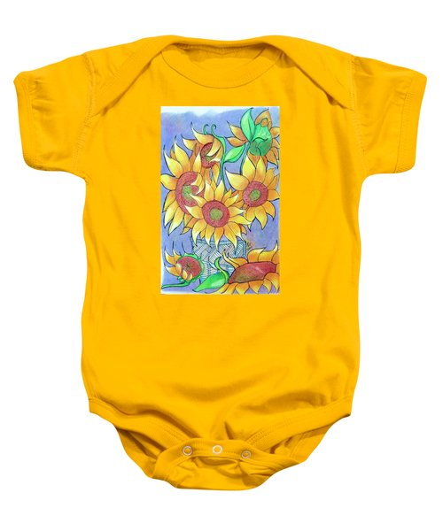 More Sunflowers Baby Onesie