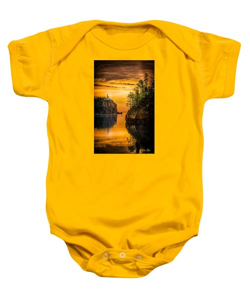 Morning Glow Against The Light Baby Onesie by Rikk Flohr