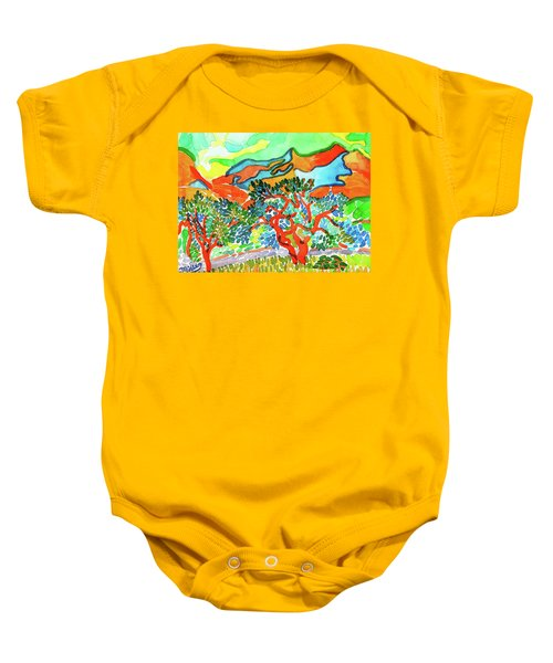 Mountains At Collioure Baby Onesie
