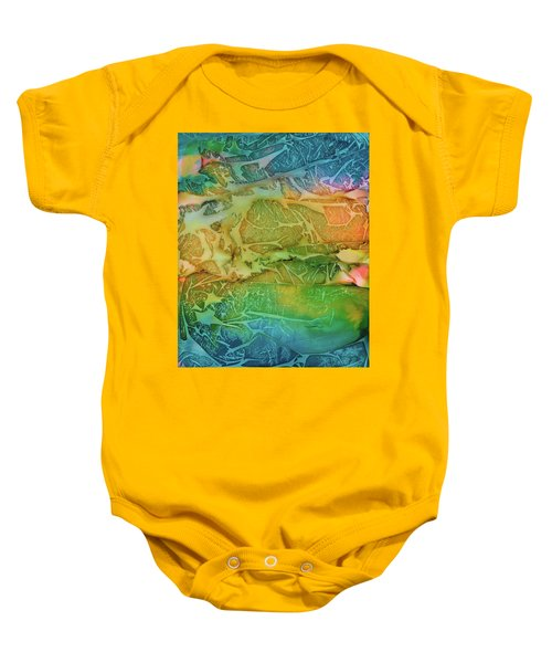 Mountains, Trees, Icy Seas Baby Onesie