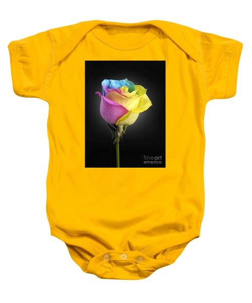 Rainbow Rose 1 Baby Onesie