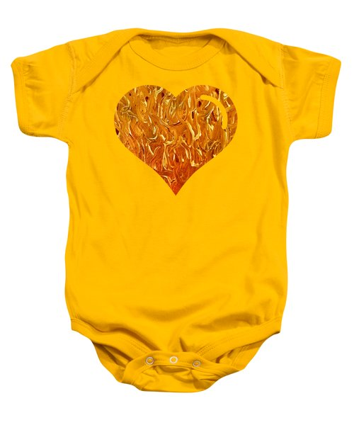 My Heart Is On Fire Baby Onesie