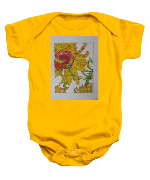 My Version Of A Van Gogh Sunflower Baby Onesie