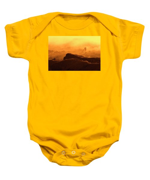 mystical view from Mt bromo Baby Onesie