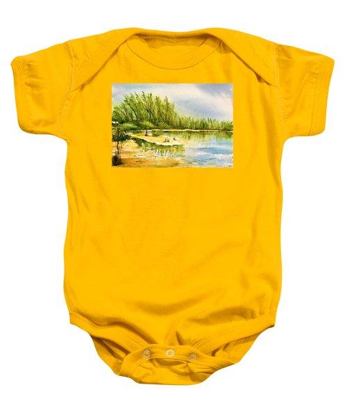 Near The Lake 4 Baby Onesie