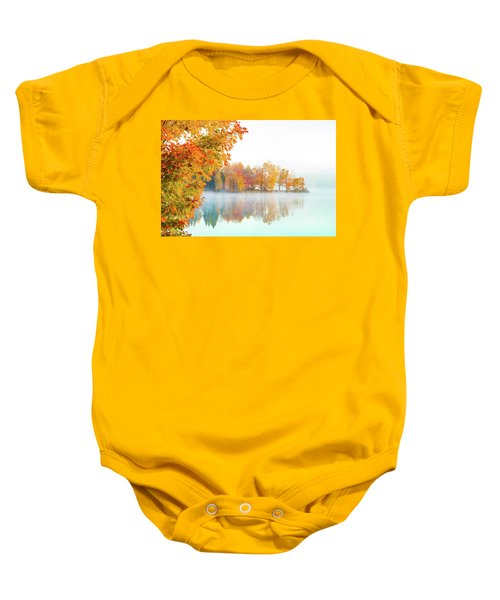 New England Fall Colors Of Maine Baby Onesie