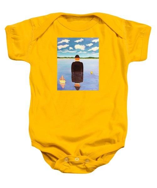 No Man Is An Island Baby Onesie