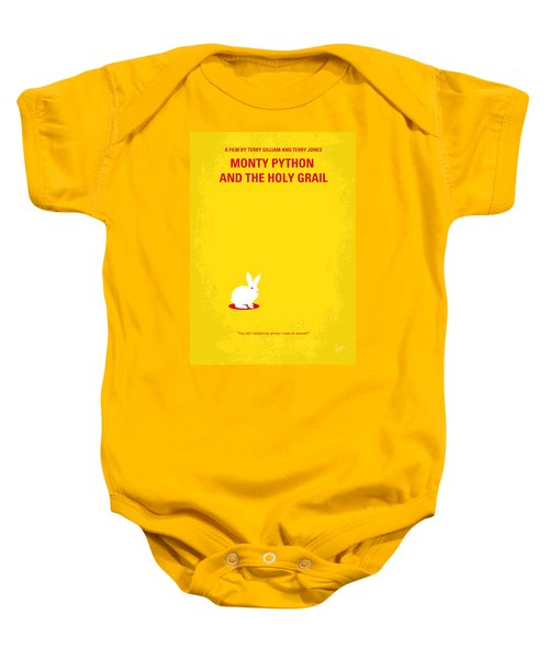 No036 My Monty Python And The Holy Grail Minimal Movie Poster Baby Onesie by Chungkong Art