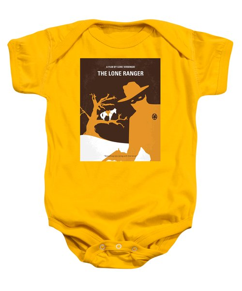 No202 My The Lone Ranger Minimal Movie Poster Baby Onesie by Chungkong Art