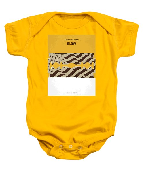 No693 My Blow Minimal Movie Poster Baby Onesie by Chungkong Art
