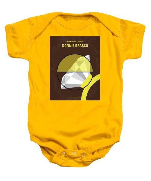 No766 My Donnie Brasco Minimal Movie Poster Baby Onesie