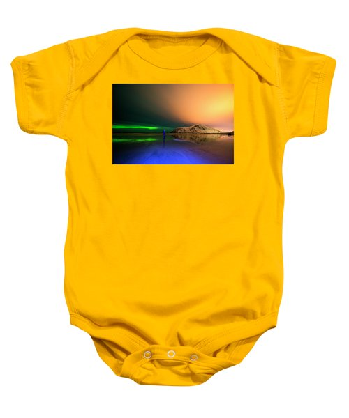 Northern Light In Lofoten, Nordland 4 Baby Onesie