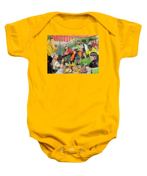 Oil- Luncheon Of The Cycling Party Baby Onesie