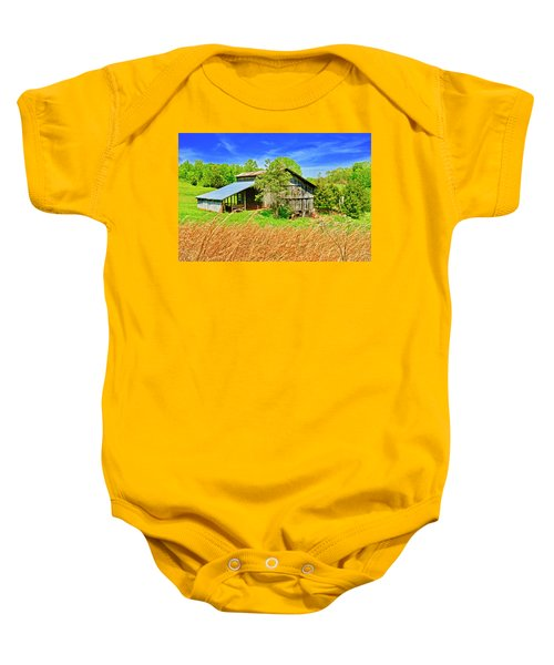Old Country Barn Baby Onesie