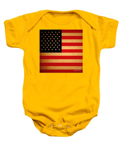 Old Glory . Square Baby Onesie