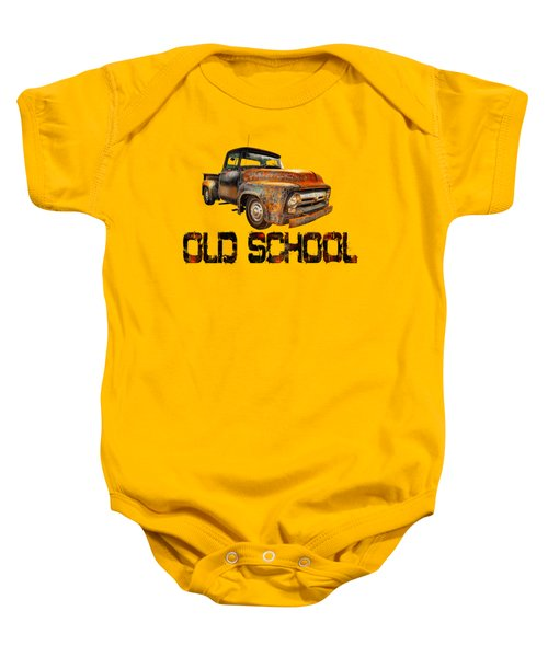 Old Truck Right Attitude Baby Onesie