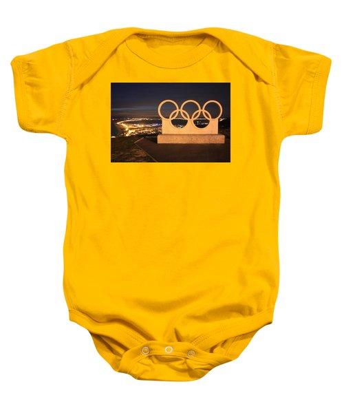 Olympic Rings Portland  Baby Onesie