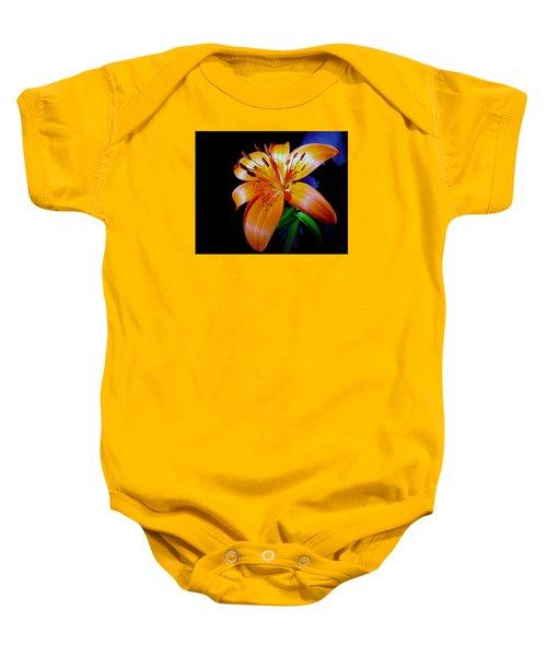 orange Glow Baby Onesie