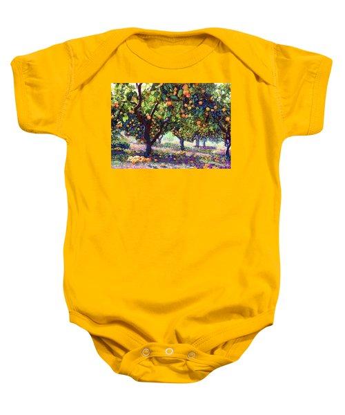 Orange Grove Of Citrus Fruit Trees Baby Onesie