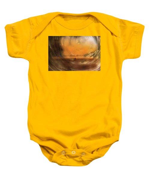 Orange Gust Baby Onesie