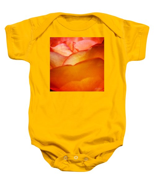 Orange Passion Baby Onesie