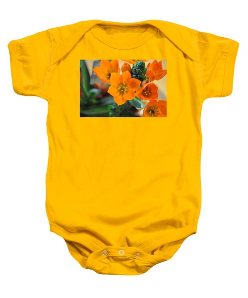 Orange Star Baby Onesie