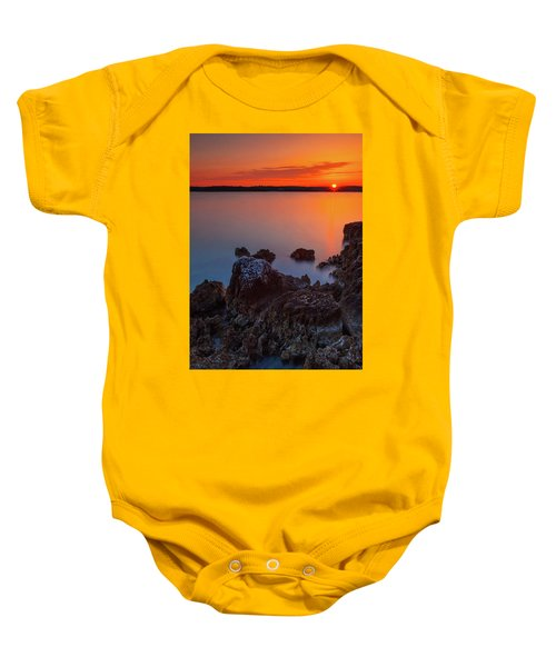 Orange Sunrise Baby Onesie