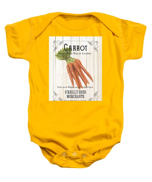 Organic Seed Packet 2 Baby Onesie by Debbie DeWitt
