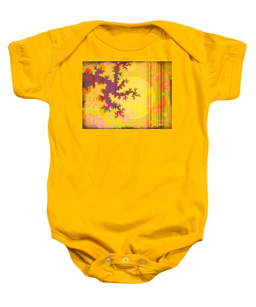 Oriental Moon Behind My Courtain Baby Onesie by Silvia Ganora