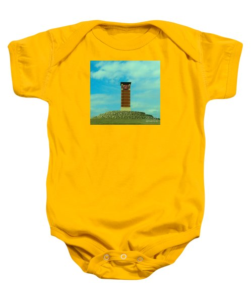 Oklahoma State University Gateway To Osu Tulsa Campus Baby Onesie by Janette Boyd