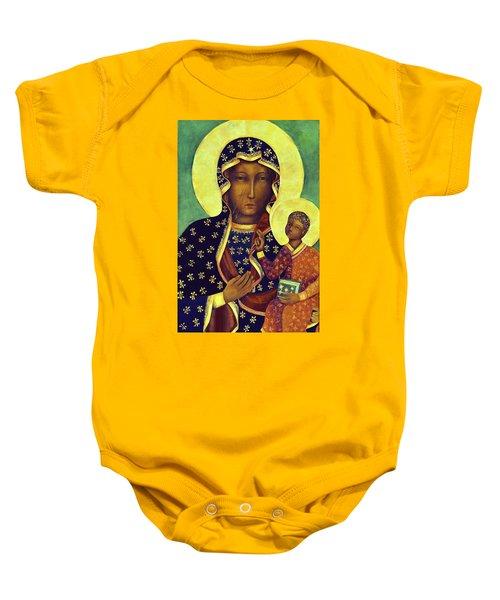 Our Lady Of Czestochowa Black Madonna Poland Baby Onesie