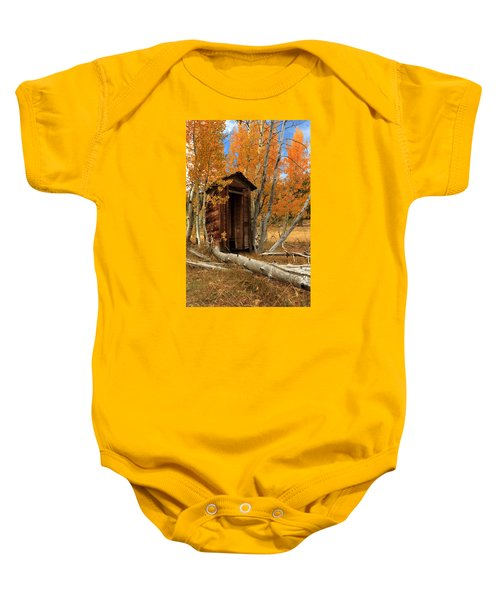 Outhouse In The Aspens Baby Onesie