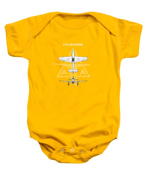 P-51 Mustang Baby Onesie by Mark Rogan