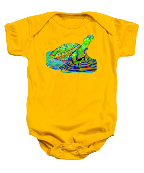 Painted Turtle Baby Onesie by Rebecca Wang